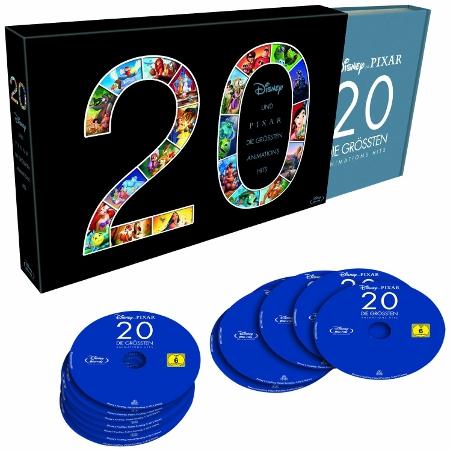 20   Die größten Animations Hits von Disney und Pixar als Blu ray Box für 99€