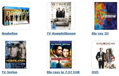 Neue 7 Tages Aktion bei Amazon mit Filmen und TV Serien zum guten Kurs!
