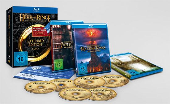 Herr der Ringe Trilogie auf Blu ray + Eintrittskarte für Der Hobbit   Smaugs Einöde für 39,95€