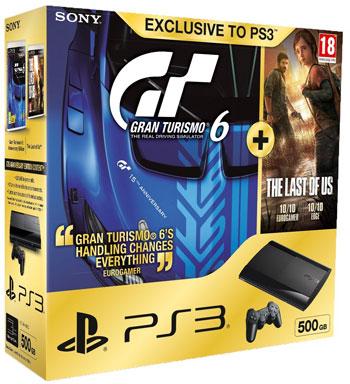 PS3 Super Slim 500GB + Gran Turismo 6 + The Last of Us für 243€ bei Amazon.co.uk