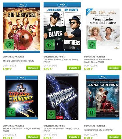 Sammlung voll machen! Blu rays mit 10€ Gutschein bei b4f