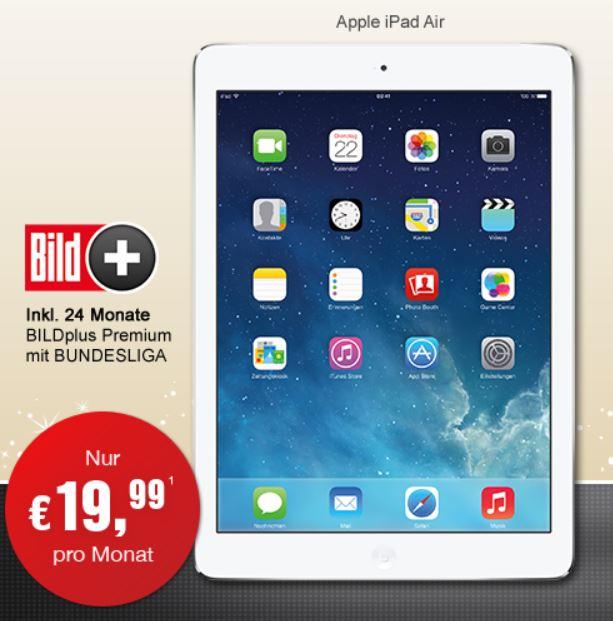 Apple iPad Air 16GB WiFi + 24 Monate Bildplus Premium mit Bundesliga für nur 479,46€