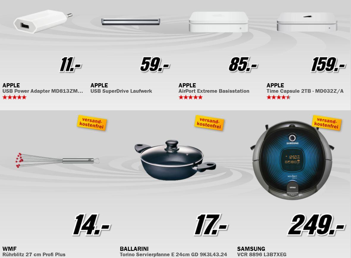 Apple AirPort Extreme für 85€ und mehr beim MediaMarkt Adventskalender