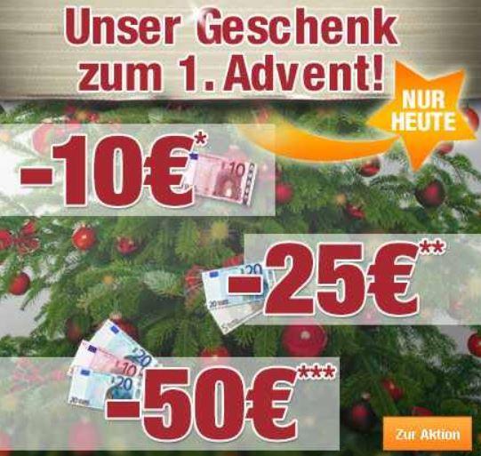 Plus.de nur heute Gutscheine mit 10€, 20€ und 50€ ja nach MBW!