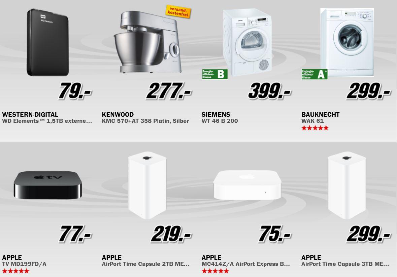 Apple AirPort Time Capsule 2TB für 219€ und mehr beim MediaMarkt Adventskalender