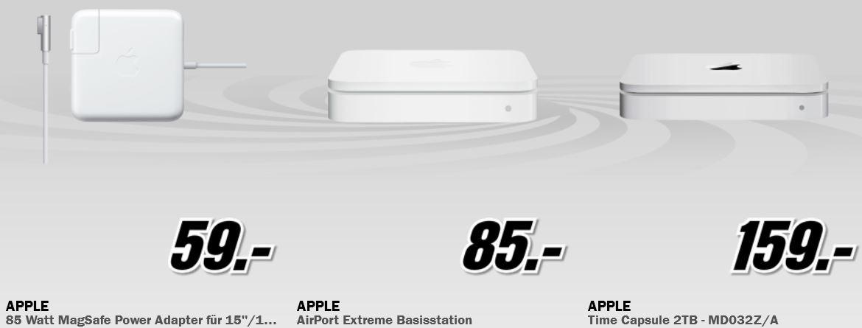 Apple AirPort Extreme Basisstation für 85€ und mehr beim MediaMarkt Adventskalender