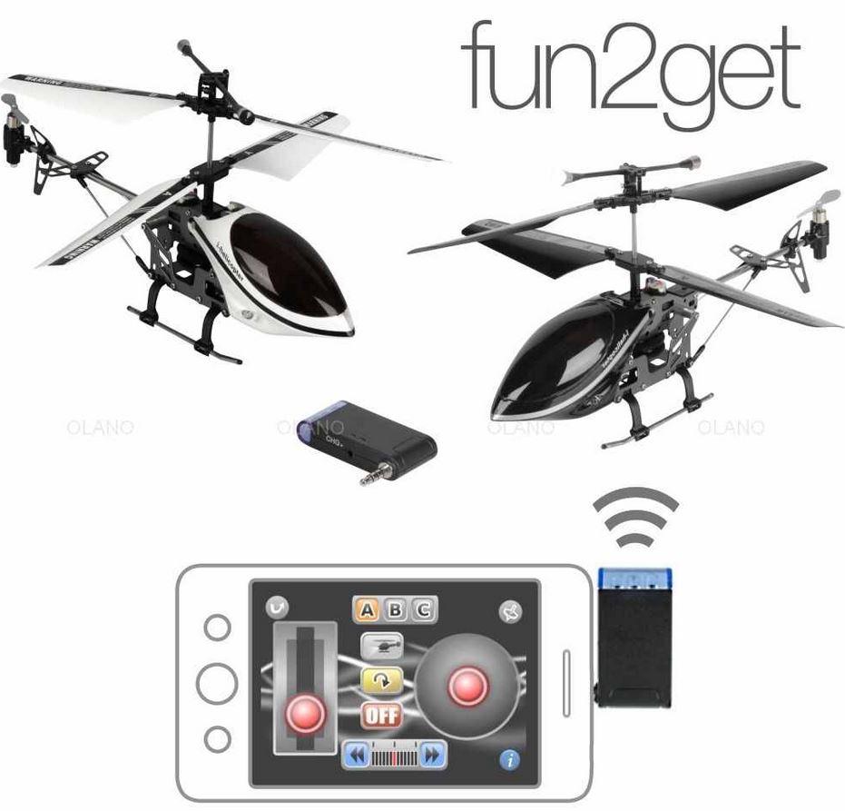 mini i helicopter fun2get   19cm 3 Kanal Helikopter appgesteuert für 9,99€