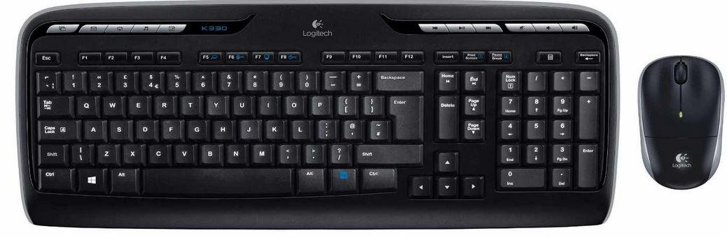 Logitech MK330 schnurlos Tastatur mit Maus für 22€ bei den Amazon Elektro Deals der Woche