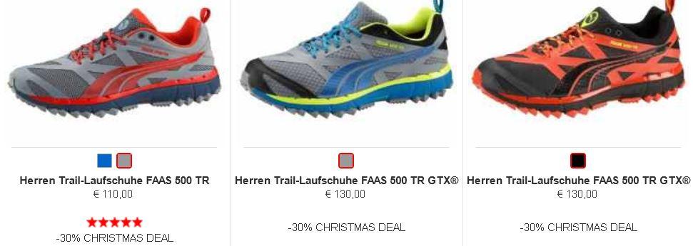 Puma Rabatt Aktion 30% auf ausgewählte FAAS Running Schuhe