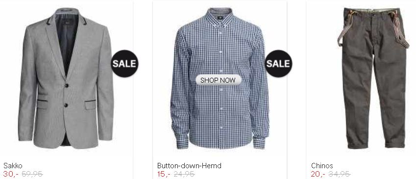 Rabatte im H&M Online Shop + neue Gutscheine + gratis Versand