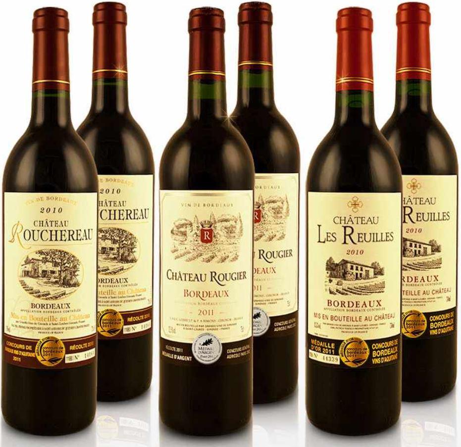 Grand Vin Bordeaux Chateau   6 Fl. Weinset für 32,90€ (statt 79€)