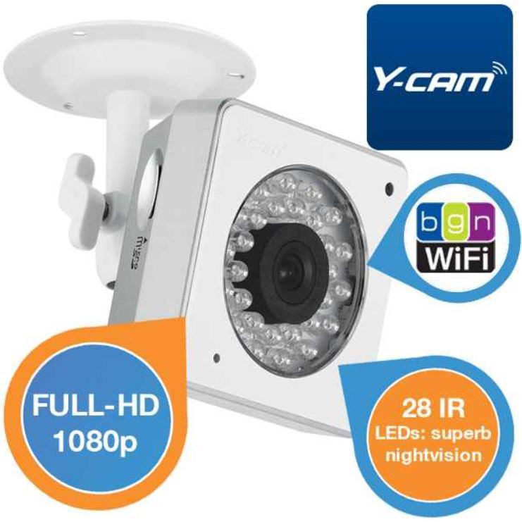 Y Cam Cube FullHD   WiFi IP Kamera mit Nachtsicht für nur 155,90€ (Vergleich 350€)