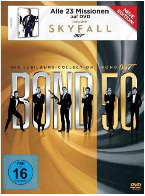 James Bond 007: Die Jubiläums Collection [23 DVD] für 69,97€ und mehr Amazon Winterdeals [Tag11]