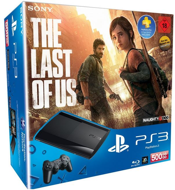PlayStation 3   Konsole Super Slim 500 GB inkl. The Last of Us für 249€ und mehr Amazon Winterdeals [Tag14]