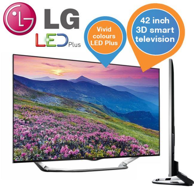 LG 42LA8609   42Zoll 3D Smart TV mit triple tuner für 858,90€