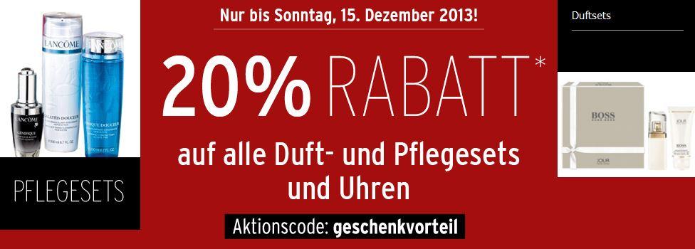 Karstadt 20% Rabatt auf ausgewählte Spielsachen, Uhren, Parfüm und Kleidung!
