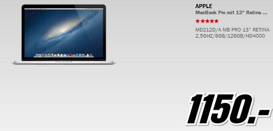 APPLE MacBook Pro für 1.150€ und mehr beim MediaMarkt Adventskalender