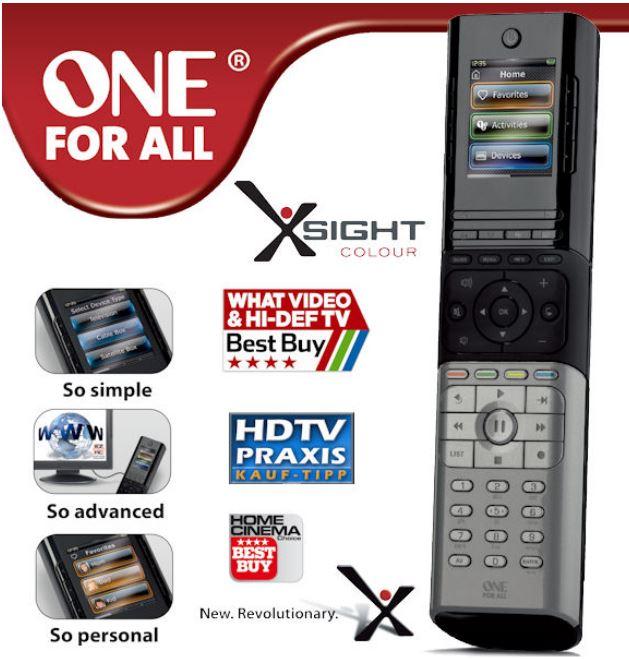 One For All Xsight Colour 8602 Universal Fernbedienung für 35,90€