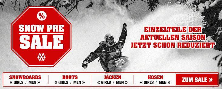 Snow Pre Sale bei Planet Sports + neue Gutscheine