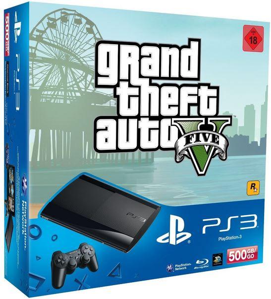 PlayStation 3   Konsole 500 GB + GTA V für 204€