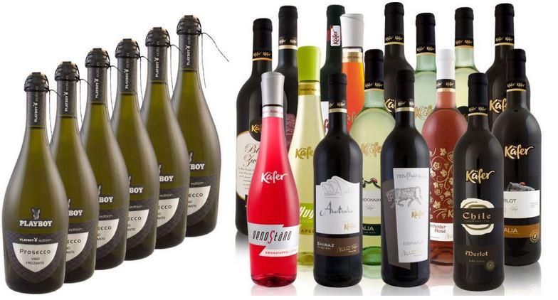 6 Flaschen Käfer Feinkost Wein   13 Sorten für je Set 19,99€