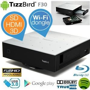 TizzBird F30 MiniPC   Android Media Player mit Wifi Dongle für 55,90€