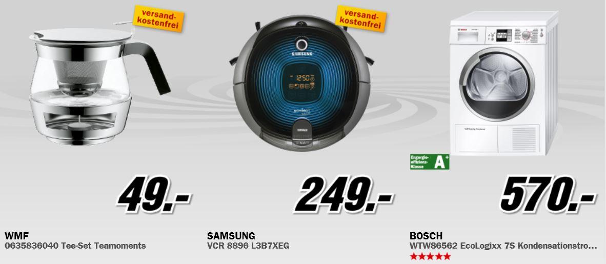 SAMSUNG Saugroboter für 249€, Apple iPad 4 (64GB) für 499€ beim MediaMarkt Adventskalender
