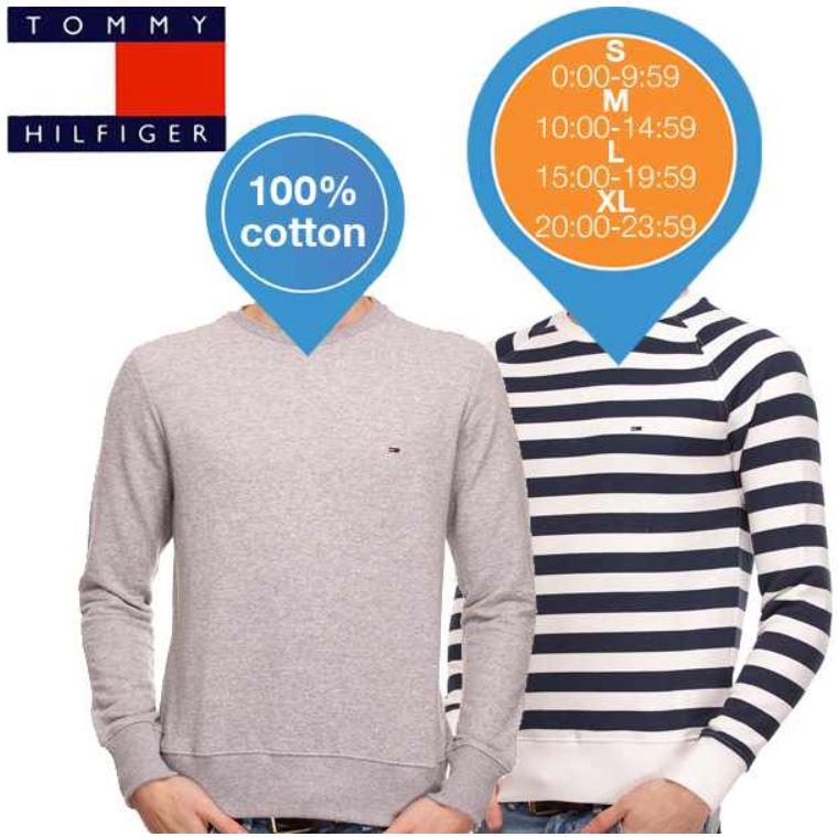Tommy Hilfiger Doppelpack Pullover für 94,95€