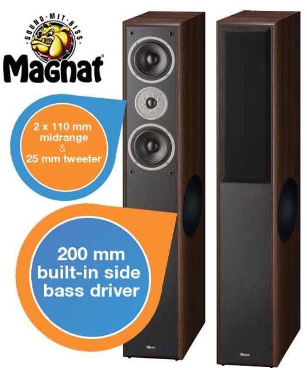Magnat Monitor Supreme 2500, 3 Wege Bass mit integriertem Seitenbasstreiber für 208,90€