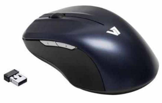 V7 MV5000   Blue Trace Funk USB Maus mit 1600dpi 5 Tasten für 9,90€