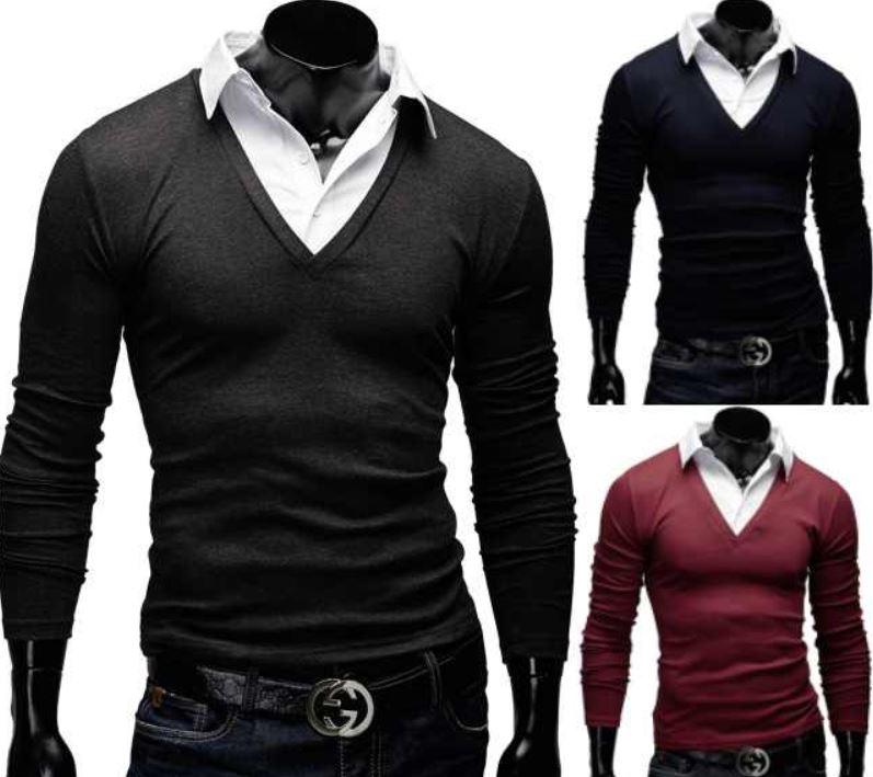 MERISH Herren Pullunder mit Hemdkragen in 5 Farben für je 22,90€