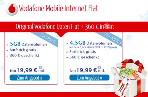 Vodafone UMTS Dauerbrenner   jetzt mit kostenlosem UMTS Stick!