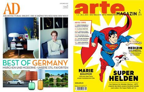 kostenlose Zeitschriften Abos   5 Ausgaben Architectural Digest und 2 Ausgaben arteMagazin