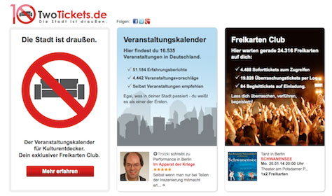 10€ Gutschein für TwoTickets   Veranstaltungstickets