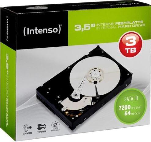 Intenso interne Festplatte, 3TB mit USB 3.0 für 89,99€   wieder da