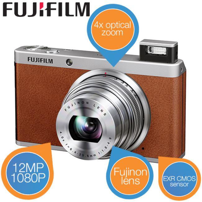Fuji XF1 High End Kompaktkamera   Braun für 175,90€