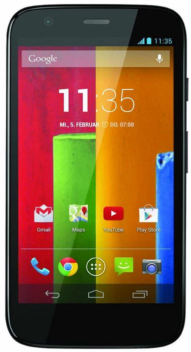 Motorola Moto G Smartphone mit mobilcom debitel Flat M Internet für nur 4,95€ monatl. mit 50€ Rabatt