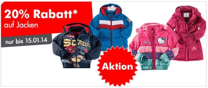 myToys 20% Rabatt auf Jacken wie WOLFSKIN, NORTH FACE für die Kleinen + 15€ Gutscheinkombi