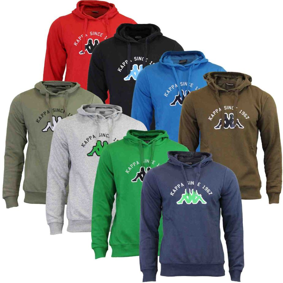 KAPPA Herren Hoodies verschiedene Modelle von S bis 4XL für je 17,99€