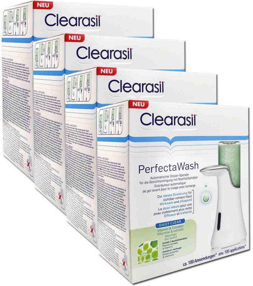 2er Set elektrische Salz und Pfefferstreuer Edelstahl mit Licht für 9,99€ & 4 St. Clearasil Perfecta Wash Dosier Spender für 13,99€