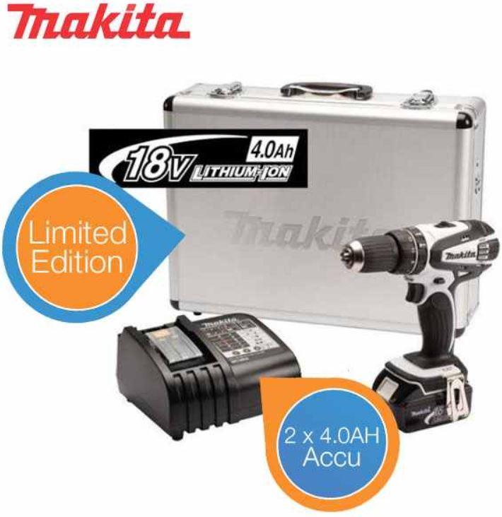 Makita DHP456RMWX   18V Akku Bohrhammer Set (2x 4.0Ah) Special Edition für 288,90€   wieder da!
