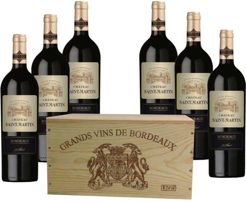 Cháteau Saint Martin   6 x Flaschen Bordeaux Rotwein für 29,99€