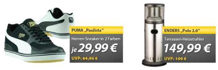PUMA Sneaker für 29,99€ & Enders Terrassenheizstrahler für 149,99€   OHA Deals von MeinPaket