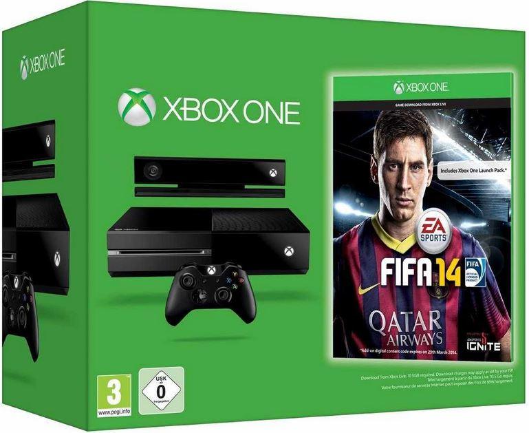 Microsoft Xbox One Konsole + Fifa 14, 500 GB für 499€