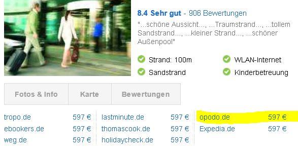 Opodo.de   100€ Gutschein für Pauschal & Last Minute Reisen ab 400€ für 9,90€