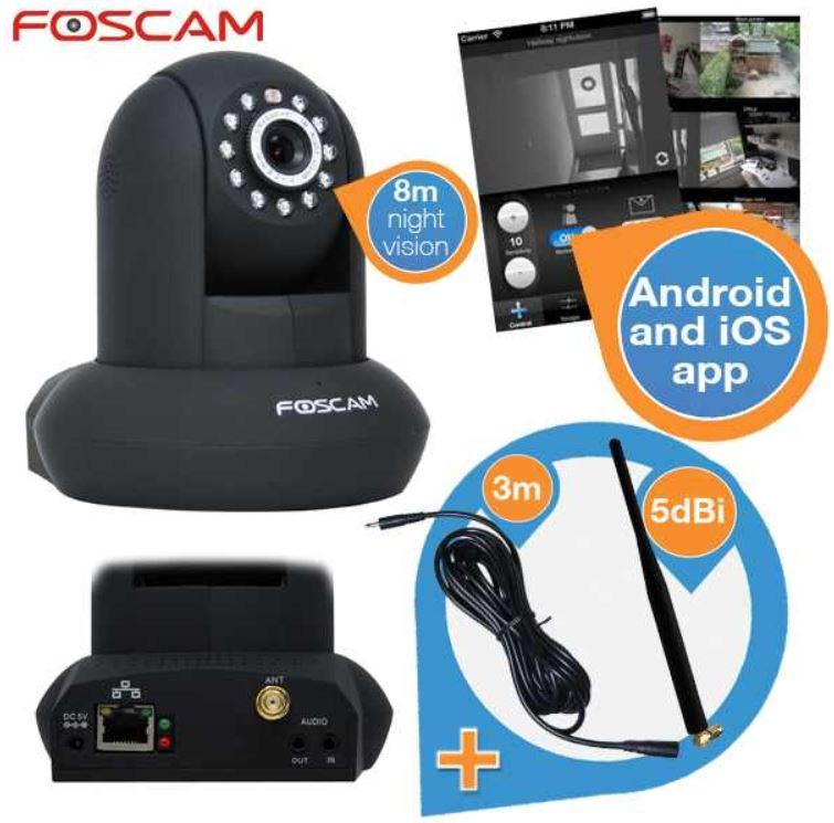Foscam Überwachungskamera für zu Hause für 65,90€