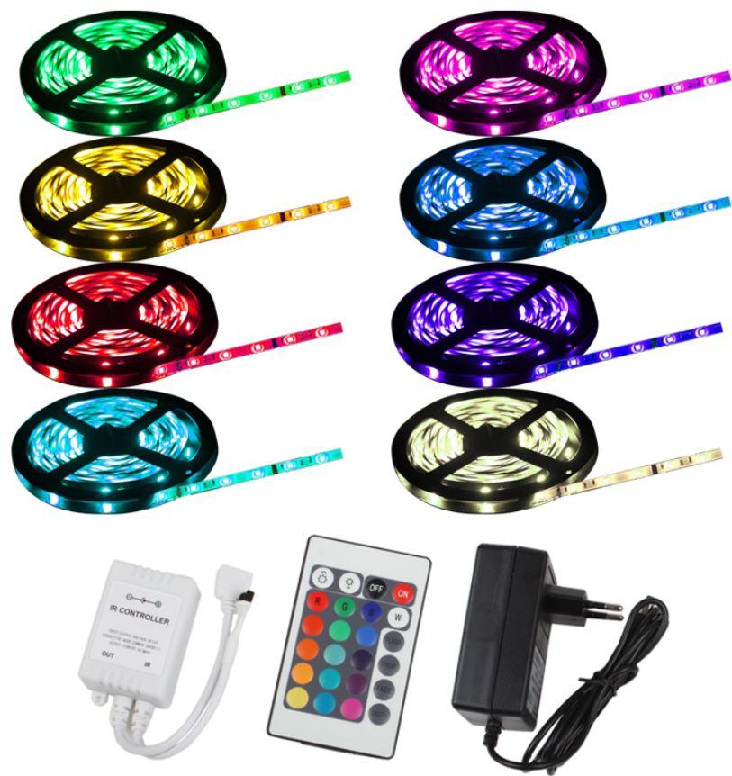 LED SMD flexible Lichtleiste, 5m inkl. Netzteil und Fernbedienung nur 19,99€ wieder da!