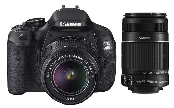Canon EOS 600D für 558,36€   DSLR im Kit 18 55 mm + 55 250 mm
