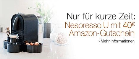 40€ Amazon Gutschein beim Kauf einer Nespresso U