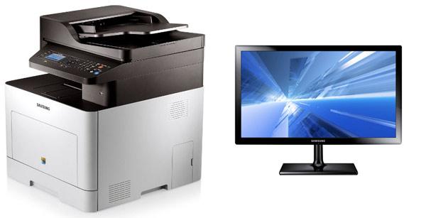 Samsung CLX 6260FD + Samsung T24C350EW für 477,13€   4 in 1 Farblaserdrucker + 24 Full HD Monitor